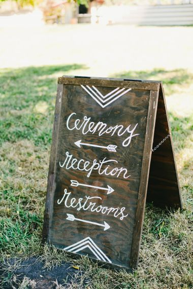 Wooden Direction Board