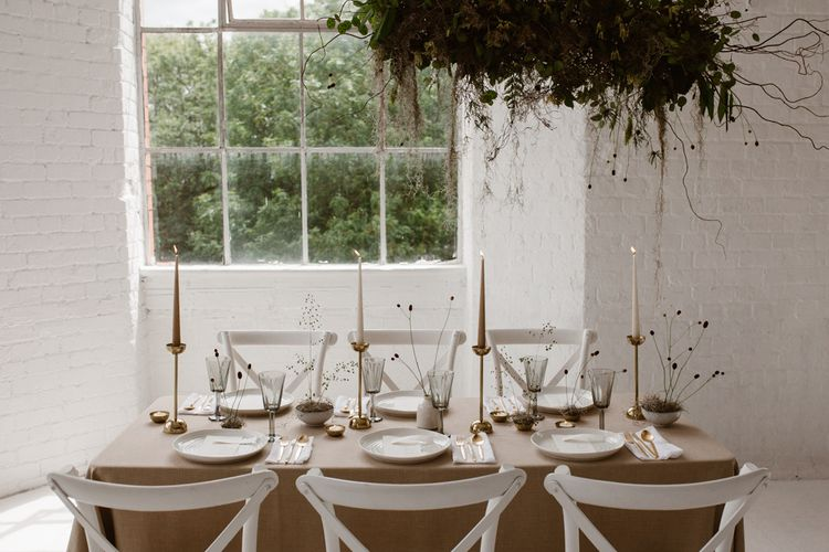 Minimalist Bridal Inspiration Styled By One Stylish Day With Foliage & Dried Flowers // Bridal Wear By Halfpenny London // Images By Agnes Black