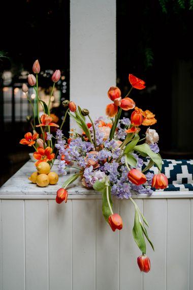 Spring flowers for wedding arrangement