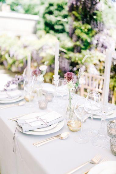 Elegant Place Setting with Linen Napkin