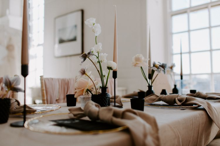 Tablescape with modern wedding ideas