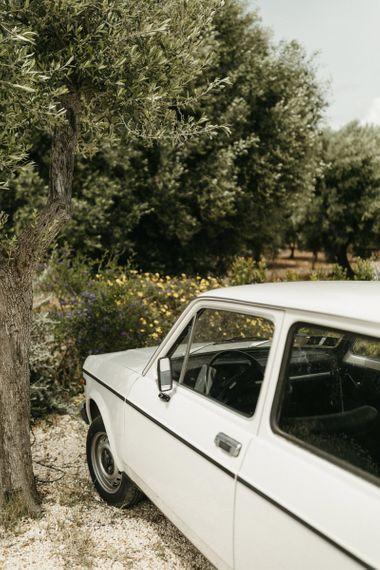 Wedding car at Masseria Moroseta in Italy