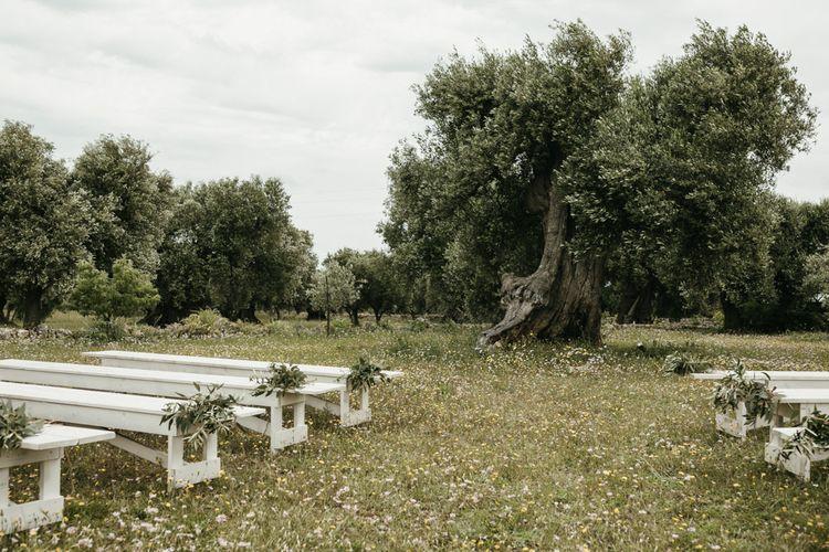 Masseria Moroseta wedding venue with outdoor ceremony