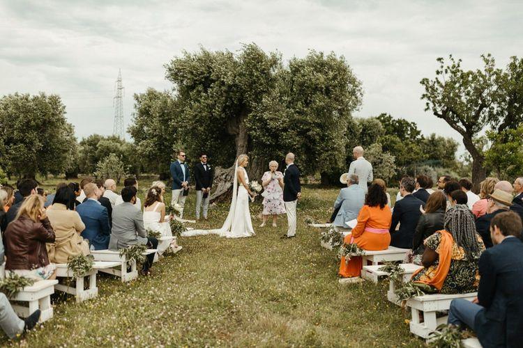 Masseria Moroseta wedding ceremony