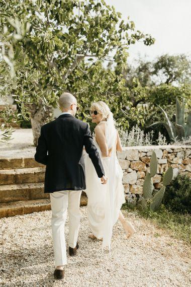 Bride and groom at destination wedding