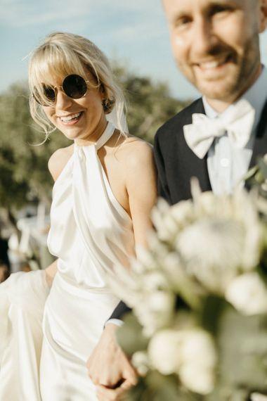 Halterneck bride dress from Halfpenny London