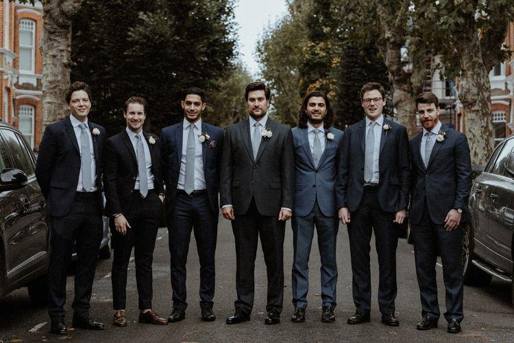 Groomsmen In Moss Bros. Suit // Image By Olivia & Dan Photography