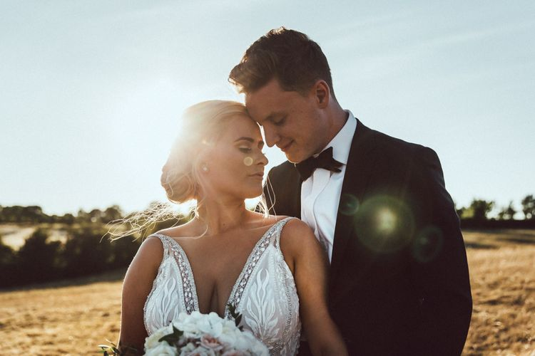 Groom In Black Tie From Moss Bros. // Image By The Vedrines