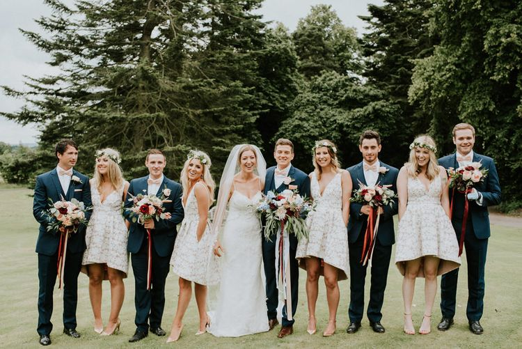 Blue Suits From Moss Bros. // Image By Anna Urban Wedding Photography