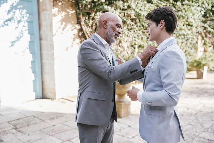 Mix And Match Grooms Suits From Moss Bros.