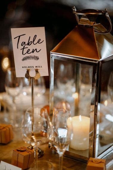 Wedding table numbers for industrial wedding