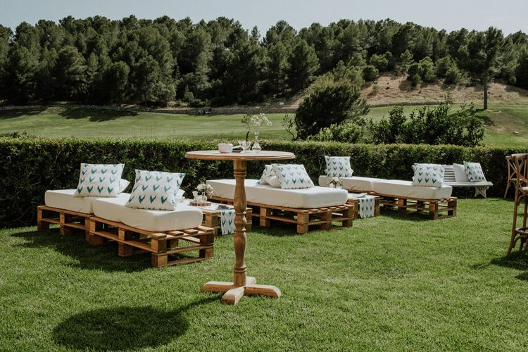 Wooden Pallet Outdoor Seating Area
