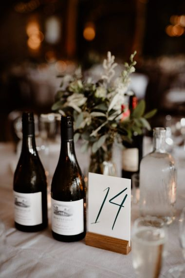 Table number  sign at Tithe Barn Bolton Abbey