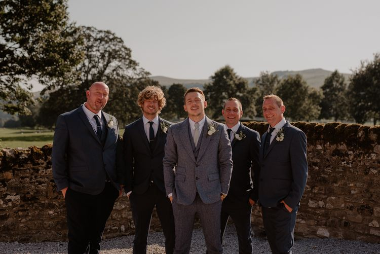 Groomsmen portrait by Taylor-Hughes Photography