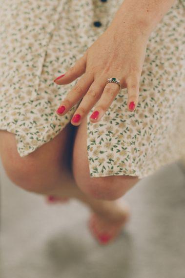 Bride Getting Ready With Colour Pop Wedding Nails