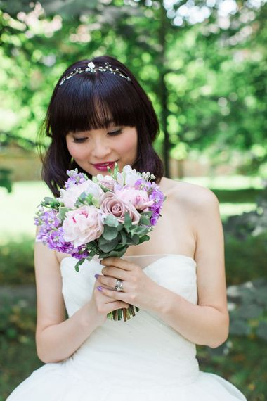 Asian Bride With Purple Nails