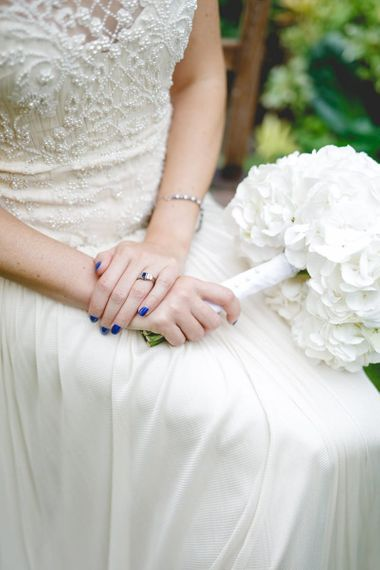 Bright Blue Wedding Nails