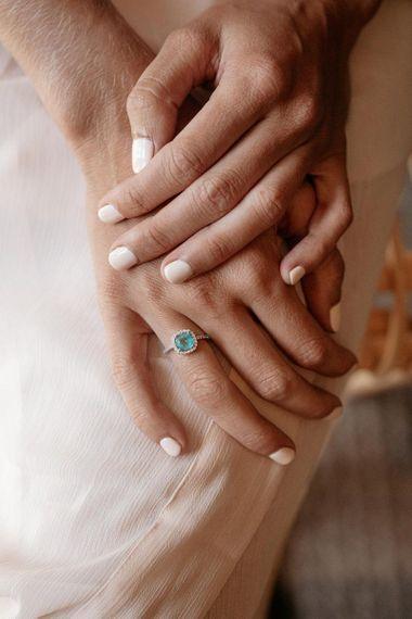 Neutral Wedding Nails