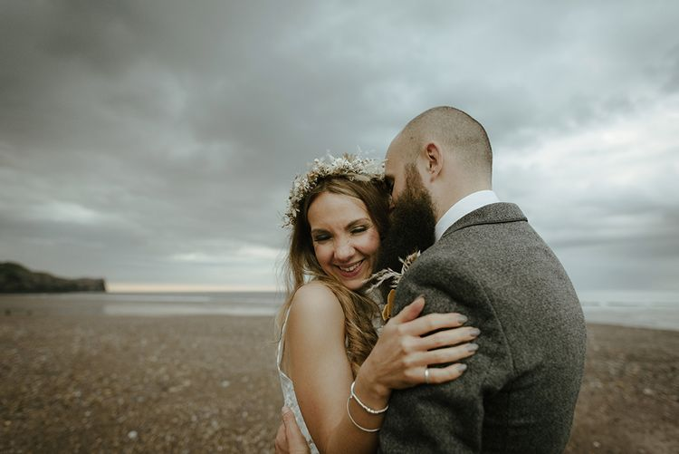 Grey Wedding Nails - Seaside Wedding