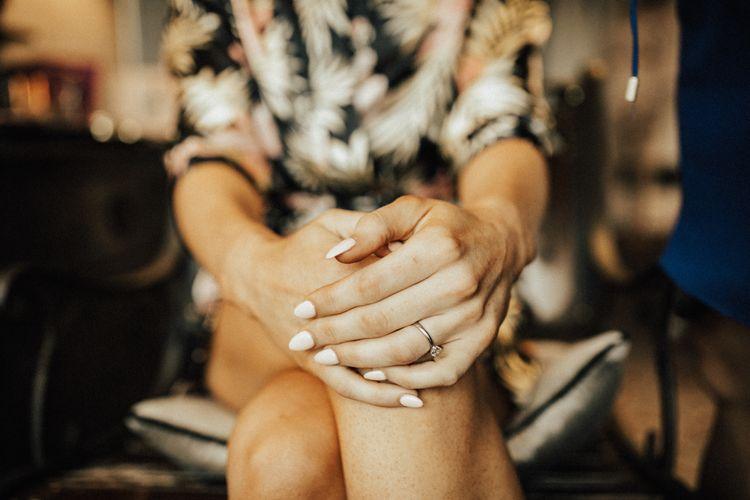 Neutral Wedding Manicure