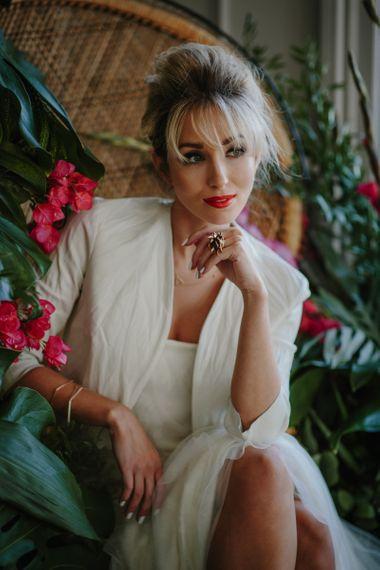 Pale Wedding Nails - Tropical Wedding Decor Inspiration