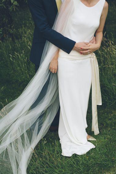 Bridal Sash Belt with Pink Nails