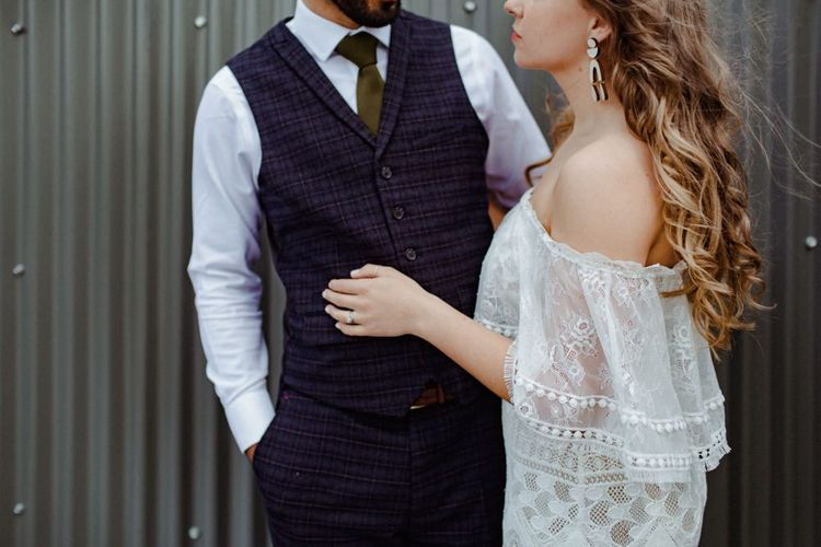 Groom In Waistcoat For London Wedding
