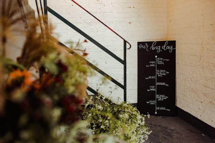 Chalkboard Wedding Sign For London Wedding
