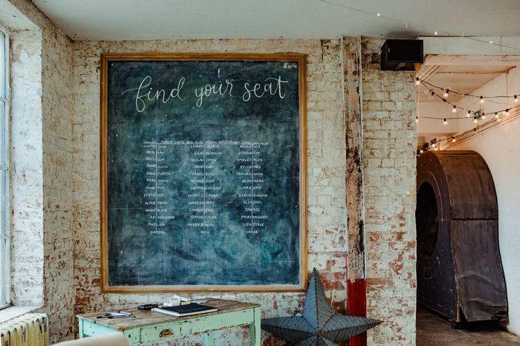 Chalkboard Wedding Table Plan