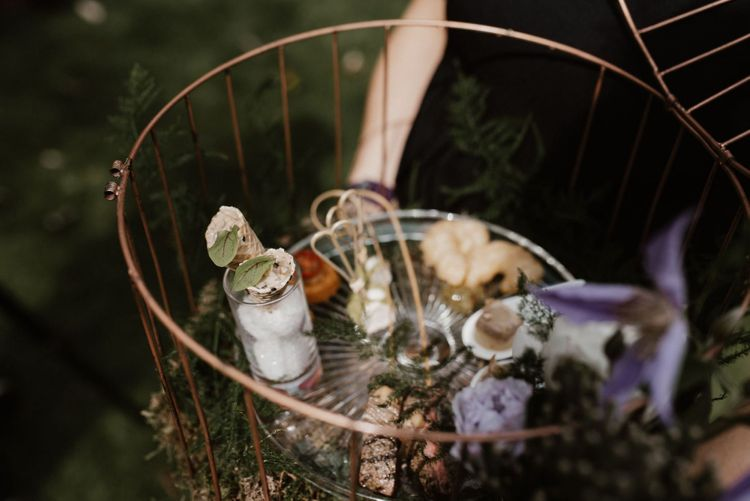 Canapes Presented in Bird Cage