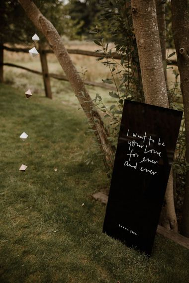 Wedding Sign And Origami Decor
