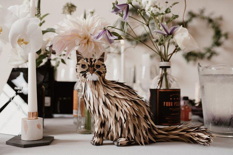 Paper Engineering Cat Wedding Decor