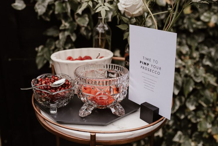 Pimp my Prosecco Station for Outdoor Wedding