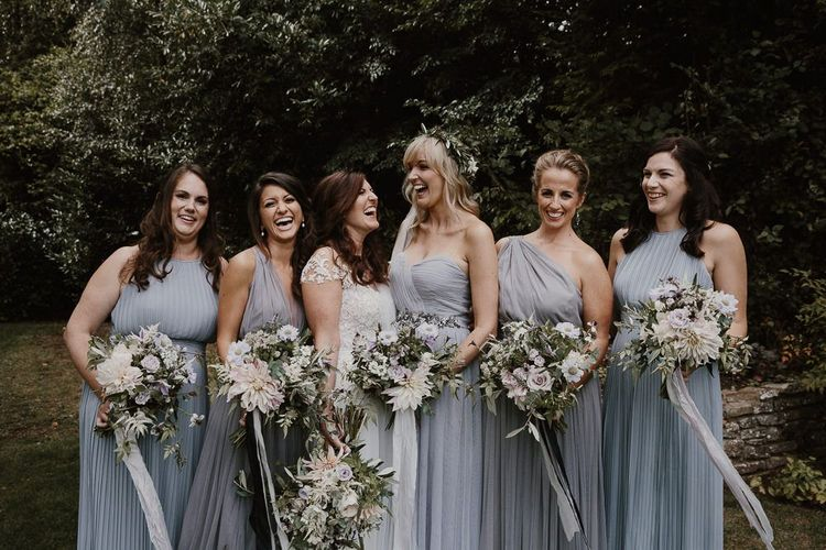 Bridal Party Grey Bridesmaid Dresses