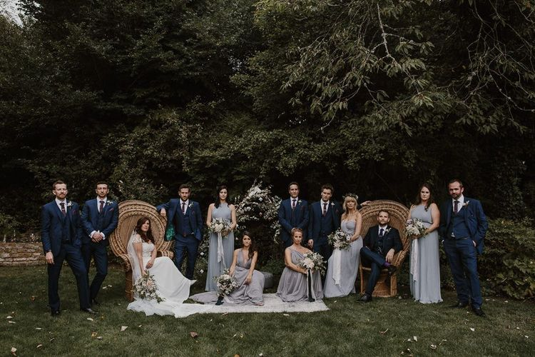Bridal Party and Groomsmen  Portrait