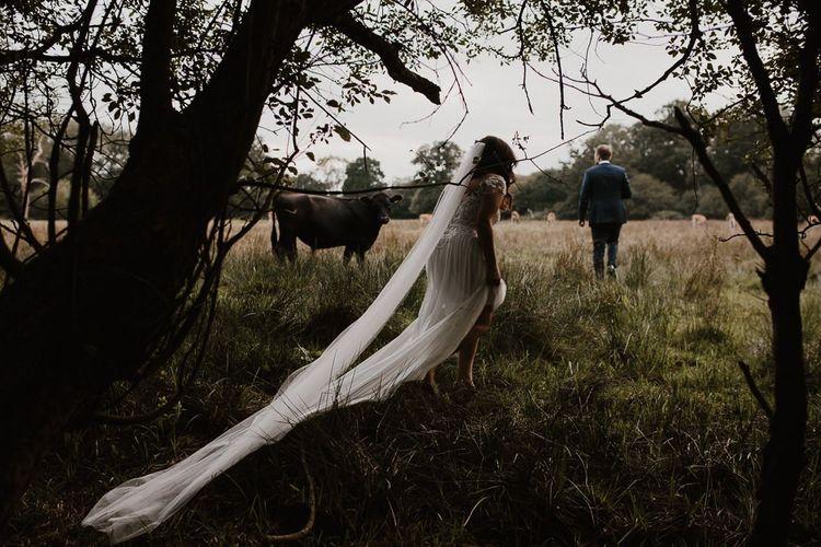 Countryside Wedding  with Bride Wearing Limor Rosen Wedding Dress