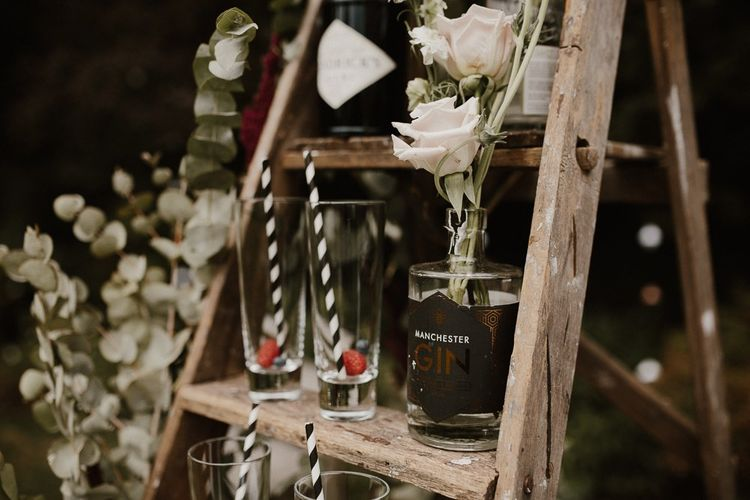 Wedding Gin Bar for Outdoor Celebration