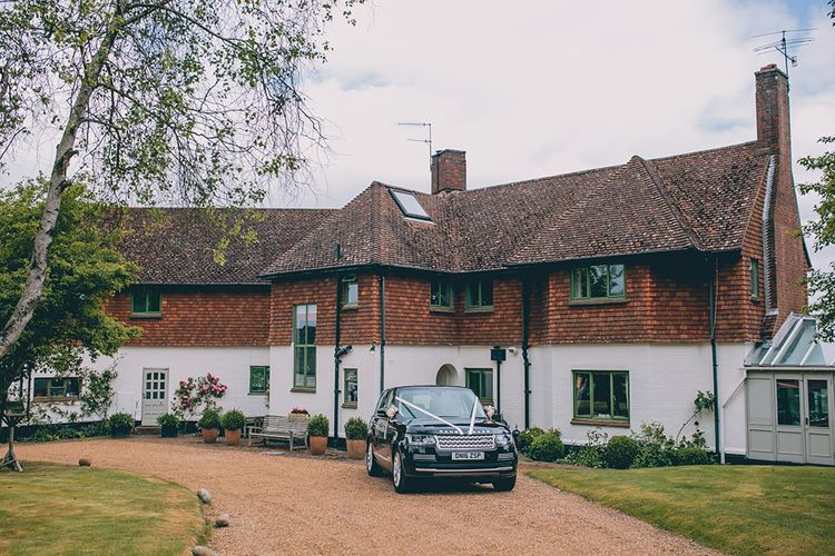 Tor Hatch House | Range Rover Wedding Car | Halterneck Maggie Sottero Dress and Garden Games at Gate Street Barn | Story + Colour Photography