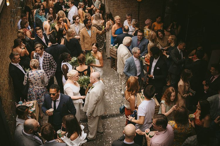 Wedding Reception at The Bike Shed Motorcycle Club in Shoreditch | Bike Shed Motorcycle Club Wedding for ELLE Digital Editor | Nigel John Photography