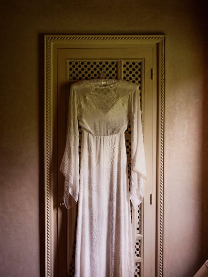 Wedding Morning Preparations | Rue de Seine Gown | Paradise Destination Wedding at Jnane Tamsna in Marrakech, Morocco | Nordica Photography | Matteo Castelluccia Film