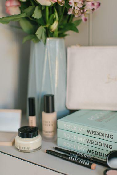 Wedding Planning Book, Katie Loxton Monogrammed Pouch, Bobbi Brown Bridal Essentials