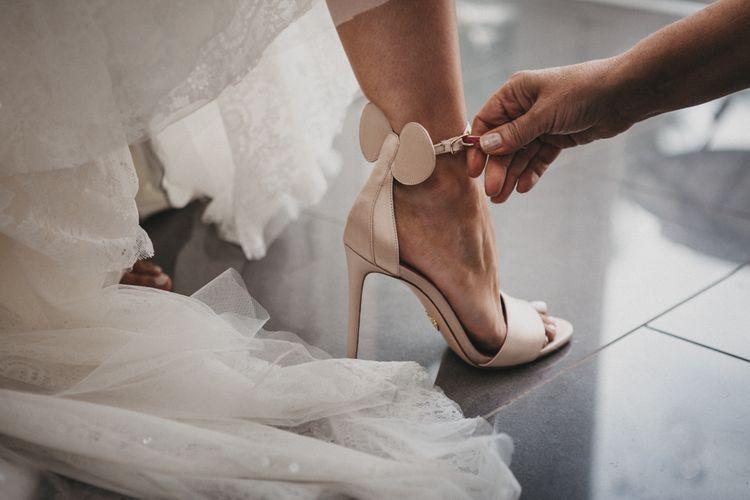 Oscar Tiye Minnie Mouse Ears Wedding Shoes