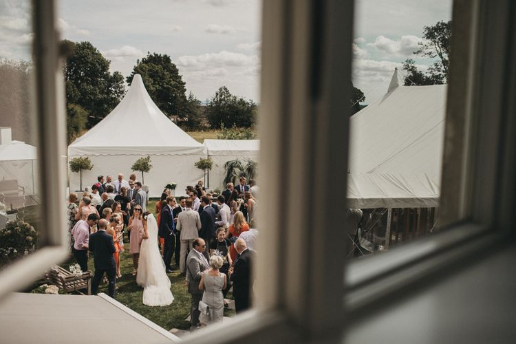 At home Garden Party Wedding with Marquee Reception