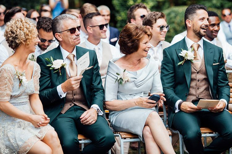 Wedding Ceremony | Rustic Greenery Wedding at Cripps Barn Cotswolds | Wedding_M Photography