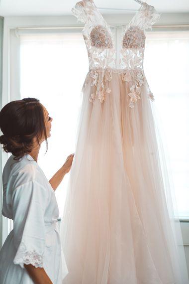 Antonia Berta Muse Tulle Wedding Dress | Rustic Greenery Wedding at Cripps Barn Cotswolds |Wedding_M Photography