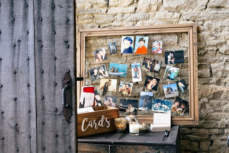 Polaroid Station & Wedding Card Box | Wedding Decor |  | Rustic Greenery Wedding at Cripps Barn Cotswolds | Wedding_M Photography