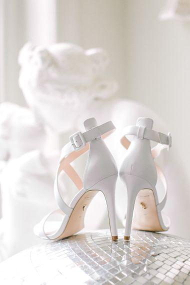 White Kurt Geiger Wedding Shoes on Glitter Ball