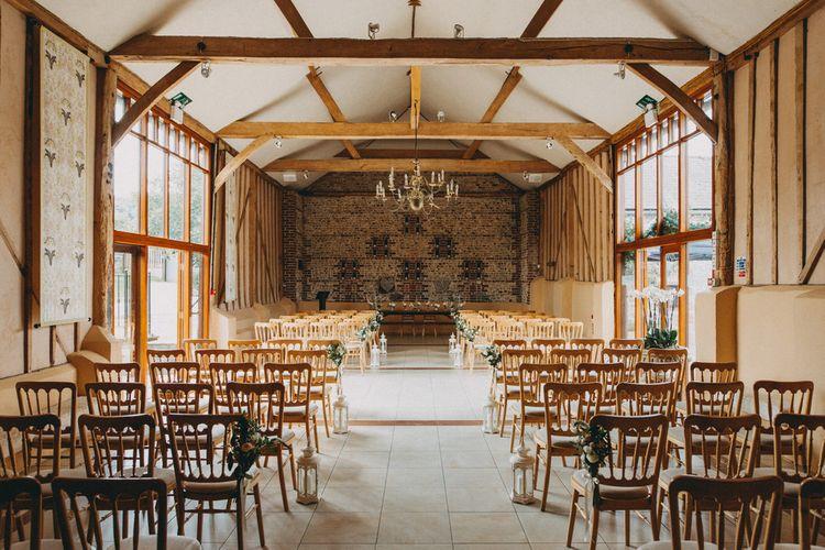 Upwaltham Barns wedding ceremony in West Sussex