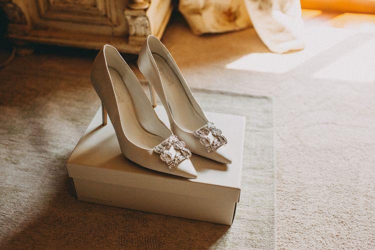 Dune wedding shoes in cream