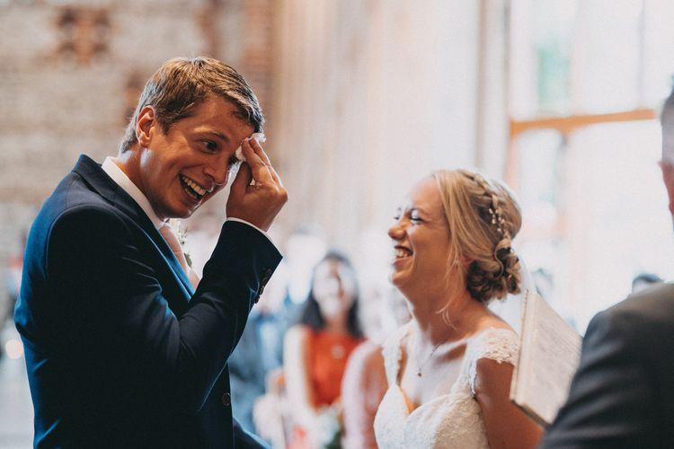 Wedding ceremony at Upwaltham Barns